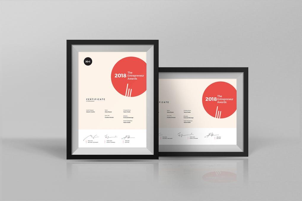 Premium Matte Finish Certificate Frames