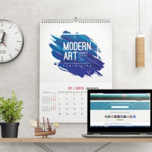 Wall Calendar with Your Logo Print