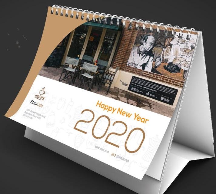 Design a desk calendar