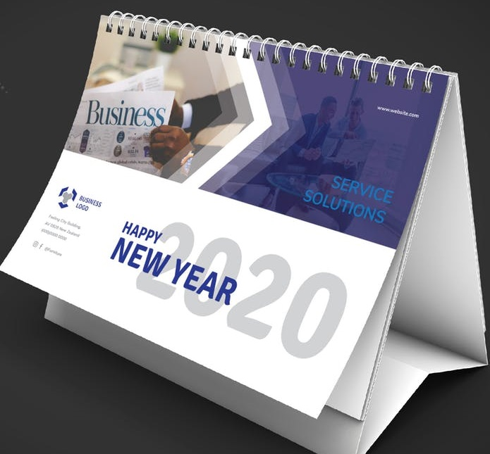 Premium desk calendar