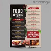Leaflet menu printing