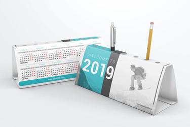 Desk Pen Holder Calendar