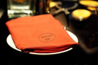 Restaurant Cloth Napkin with logo