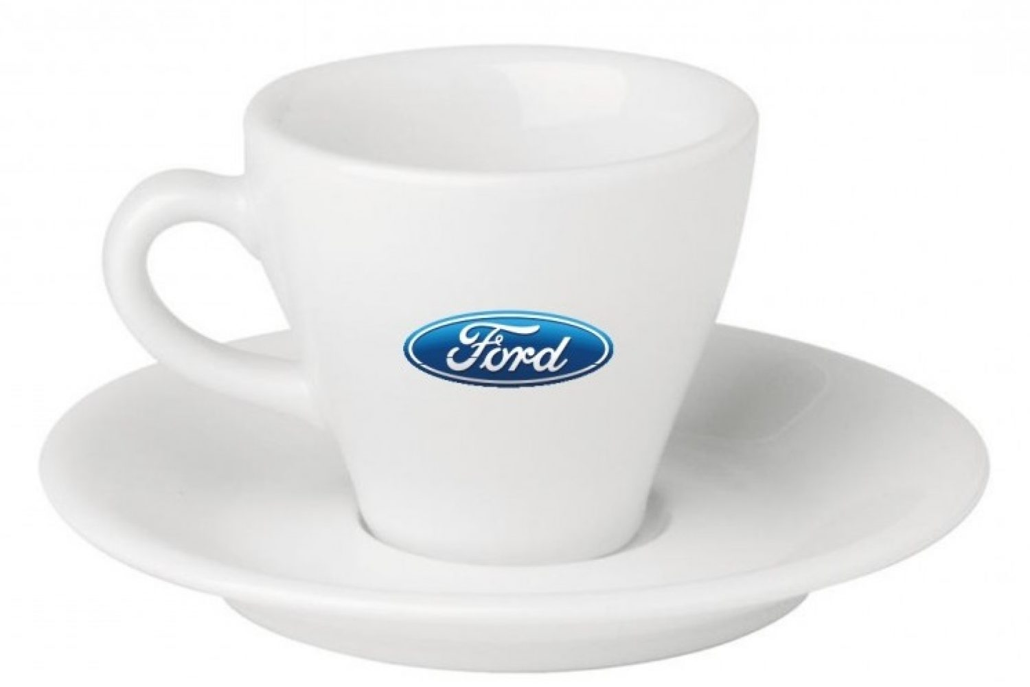 Logo Print on Ceramic cup and Saucer